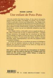 Une enfant de poto-poto - 4ème de couverture - Format classique