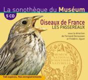 La sonothèque du Muséum ; oiseaux de France ; les passereaux - Couverture - Format classique