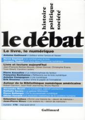 Revue Le Débat N.170 ; mai-juin 2012 - Couverture - Format classique