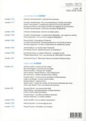 Revue Le Débat N.170 ; mai-juin 2012 - 4ème de couverture - Format classique