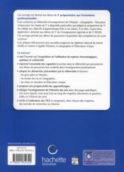 Histoire-géographie-éducation civique ; 3ème prépa pro ; livre de l'élève (édition 2012) - 4ème de couverture - Format classique