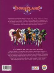 Horseland t.7 ; l'habit ne fait pas le moine - 4ème de couverture - Format classique