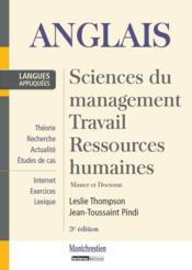 Anglais ; sciences du management, travail, ressources humaines ; master et doctorat (3e édition) - Couverture - Format classique
