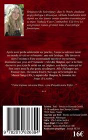 Les anges de Lucifer - 4ème de couverture - Format classique