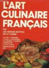 L'Art Culinaire Francais. - Couverture - Format classique