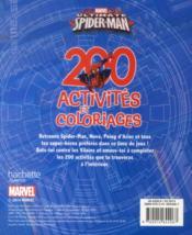 Spider-man ; 200 activités et coloriages - 4ème de couverture - Format classique