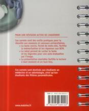 Carnet d'anatomie. t2: tete, cou, dos, 3e ed. - 4ème de couverture - Format classique