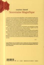 Souveraine magnifique - 4ème de couverture - Format classique