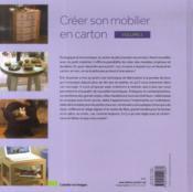 Creer son mobilier en carton t.2 - 4ème de couverture - Format classique