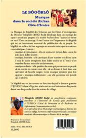 Le bôgôblô ; musique dans la société Atchan, Côte d'Ivoire - 4ème de couverture - Format classique