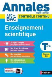 Annales ABC du bac ; sujets & corrigés ; enseignement scientifique : terminale (édition 2020) - Couverture - Format classique