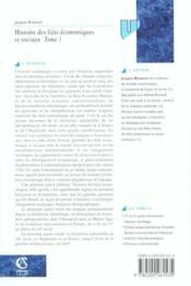 Histoire des faits economiques et sociaux - Couverture - Format classique