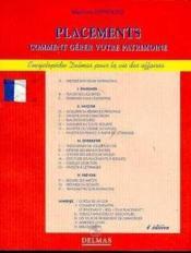 Placements 4e Ed - Couverture - Format classique