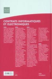 Contrats informatiques et électroniques (4e édition) - 4ème de couverture - Format classique