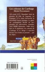 Les colosses de carthage - 4ème de couverture - Format classique