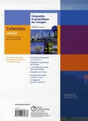 Géographie ; terminale L, ES, S ; livre de l'élève (édition 2008) - 4ème de couverture - Format classique