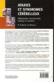 Ataxies et syndromes cérébelleux ; rééducation fonctionnelle, ludique et sportive - 4ème de couverture - Format classique