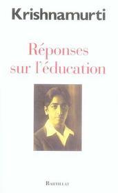 Reponses sur l education - Intérieur - Format classique