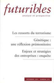 Les ressorts du terrorisme. genetique : une reflexion premonitoire - Couverture - Format classique