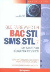 Que faire avec un bac sti sms stl ? (6e édition) - Intérieur - Format classique