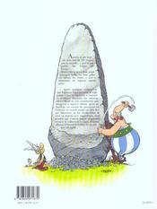Astérix T.32 ; Asterix a l'escòla gallesa - 4ème de couverture - Format classique