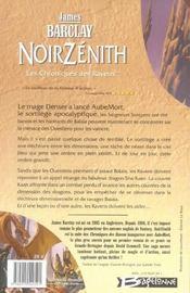 Les chroniques des Ravens t.2 ; Noirzénith - 4ème de couverture - Format classique