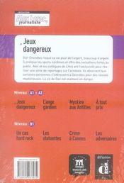 Alex Leroc, journaliste ; jeux dangereux ; niveau 1 - 4ème de couverture - Format classique