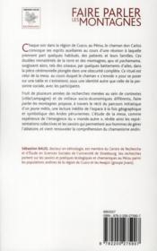 Faire parler les montagnes ; l'initiation chamanique dans les Andes - 4ème de couverture - Format classique