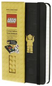 Carnet Lego noir ; poche ; ligné - Couverture - Format classique