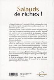 Salauds de riches ! - 4ème de couverture - Format classique