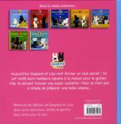 Gaspard Et Lisa ; Le Club Secret - 4ème de couverture - Format classique
