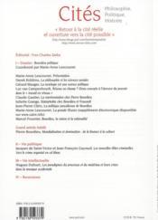 Revue Cites T.51 ; Bourdieu Politique - 4ème de couverture - Format classique