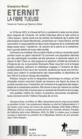 Eternit, la fibre tueuse ; le combat pour la justice de Casale, ville martyre de l'amiante - 4ème de couverture - Format classique