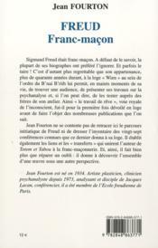 Freud franc-maçon - 4ème de couverture - Format classique