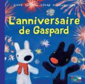 L'anniversaire de Gaspard - Couverture - Format classique