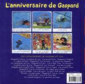 L'anniversaire de Gaspard - 4ème de couverture - Format classique