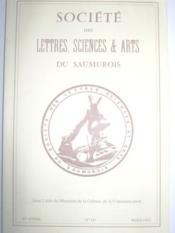 Société des Lettres, Sciences et Arts du Saumurois. Bulletin. (N° 141, 83e année). - Couverture - Format classique