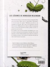 Les légumes de monsieur wilkinson - 4ème de couverture - Format classique