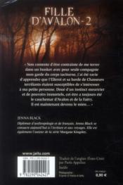 Fille d'avalon t.2 ; la chasse infernale - 4ème de couverture - Format classique
