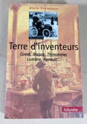 Terre d'inventeurs. Conté, Niepce, Thimonnier, Lumière, Renault... - Couverture - Format classique