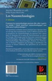 Les nanotechnologies (3e édition) - 4ème de couverture - Format classique