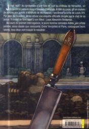 Les bosquets de Versailles T.1 ; le crime de l'encelade - 4ème de couverture - Format classique