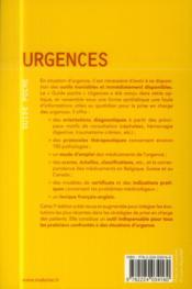 Urgences, 7e ed. - 4ème de couverture - Format classique