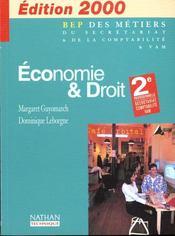 Economie Et Droit 2e Professionnelle - Intérieur - Format classique