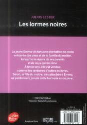 Les larmes noires - 4ème de couverture - Format classique