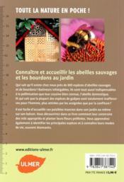 Hôtels à insectes ; abeilles sauvages, bourdons & Cie au jardin - 4ème de couverture - Format classique
