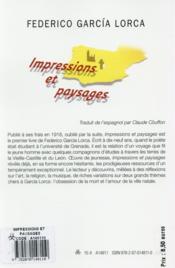 Impressions et paysages - 4ème de couverture - Format classique