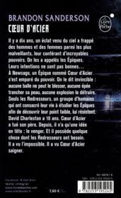 Coeur d'Acier T.1 - 4ème de couverture - Format classique