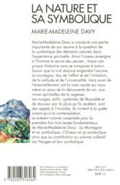 La nature et sa symbolique - 4ème de couverture - Format classique