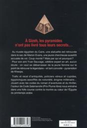 Cabale Pyramidion - 4ème de couverture - Format classique